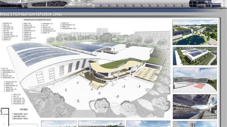 Физкультурно-оздоровительный комплекс с разработкой террасного парка в г. Астрахань
