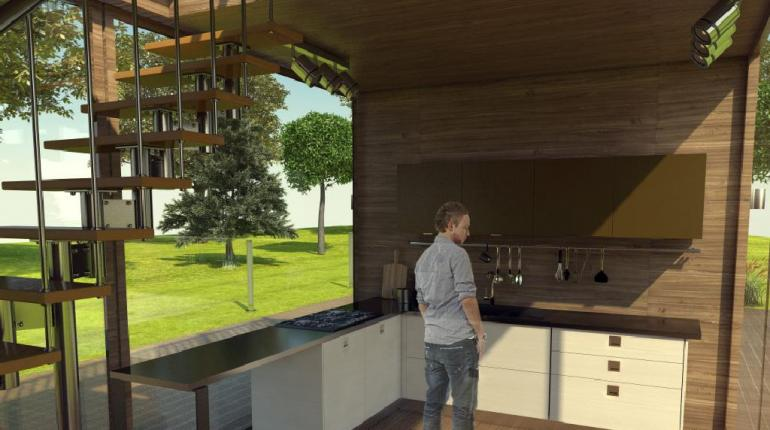 Проект террасы с перголой и бассейном